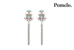 Multicolour Diamante Tassle Earrings