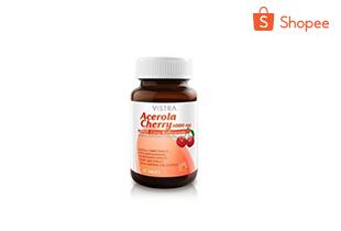 Vistra Acerola Cherry 1000 Mg 45 เม็ด วิสทร้า อะเซโรลาเชอร์รี่ 1000 มก. (11942)