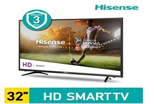 """""""โปรโมชั่น ช้อปปี้ Hisense Smart TV HD รุ่น 32N2170W  ขนาด 32 นิ้ว ลดราคา 11%  จาก 6,790 บาท เหลือเพียง 5,990 บาท """""""