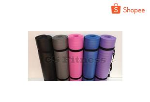 พร้อมส่ง!! เสื่อโยคะ หนา Yoga Mat 10 Mm ขนาด 183*61 Cm แถมฟรี..ถุงตาข่าย + สายรัด
