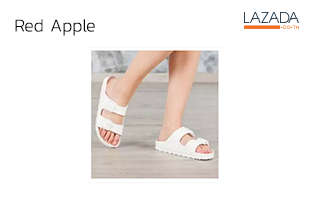 Red Apple BG2562 รองเท้าแตะผู้หญิง ผู้ชาย รองเท้าแตะรองเท้าแตะ สวม2สายคาด เบา ใส่สบาย ไม่กลัวน้ำ