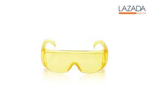 แว่นตากันน้ำสงกรานต์ สีเหลือง