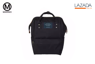 Marino กระเป๋า กระเป๋าเป้ กระเป๋าสะพายหลังสีดำ Woman Backpack No.2015 - สีดำ