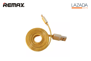 Remax สายชาร์จ Samsung Micro USB รุ่น Gold Safe & Speed (สีทอง)