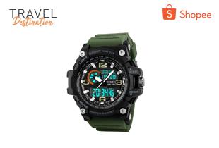 SKMEI 1283 นาฬิกาข้อมือกันน้ำ (ของแท้ ส่งเร็ว แถมกล่องใบประกันครบ)