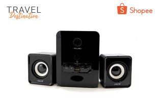 Travel Week: OKER ลำโพง Bluetooth Multimedia Desktop Speaker Micro 2.1