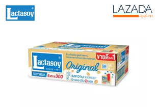 ขายยกลัง Lactasoy นมถั่วเหลือง ยูเอชทีแลคตาซอยรสหวานคลาสิค 300มล.แพ็ค 6*6