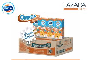 โฟร์โมสต์โอเมก้า โยเกิร์ตพร้อมดื่ม ไขมันต่ำ ยูเอชที รสส้ม 170 มล.(48กล่อง/ลัง)