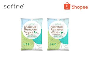 Softne' Makeup Remover Wipes Ance Care (แพ็ค 2)