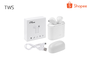 หูฟัง I7S TWS รุ่นสองหู ซ้ายและขวา HBQ-I7S TWS หูฟังไร้สาย แบบ 2 ข้าง (ซ้าย-ขวา) รองรับ Bluetooth V4.2 + DER
