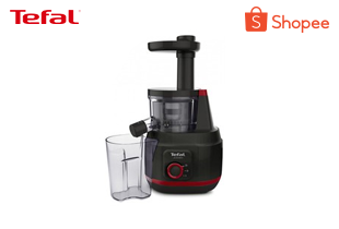 Tefal เครื่องสกัดน้ำผักและผลไม้ Slow Juicer 2SP 150 วัตต์ ความจุ 0.8 ลิตร รุ่น ZC150838