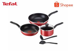 Tefal เซ็ตอุปกรณ์ทำอาหาร ก้นกระทะอินดักชั่น Pure Chef 6 ชิ้น(Pure Chef Suprise Set 6 pieces) C617S614