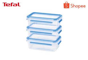 Tefal เซ็ตกล่องถนอมอาหาร MasterSeal FRESH Set จำนวน 5 ใบ ความจุ 0.15, 0.25, 0.55, 1 และ 3.7 ลิตร รุ่น K3029012