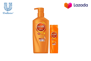Sunsilk Shampoo Damage Restore (Orange) 900ml (1 bottle) & 170ml (1 bottle)