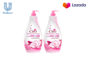 Citra Pearly Whitening UV Aura Lotion 590 ml (2Bottles)