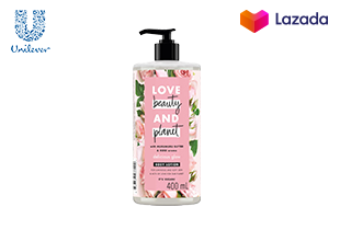 Love Beauty and Planet DELICIOUS GLOW BODY LOTION_ Murumuru Butter & Bulgarian Rose Organic Body Lotion_ 400ml