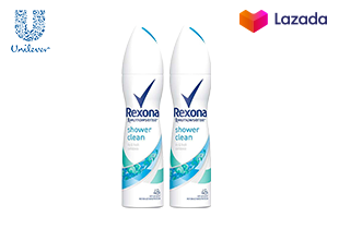 Rexona Shower Clean Spray Green 150 ml (2 Bottles)