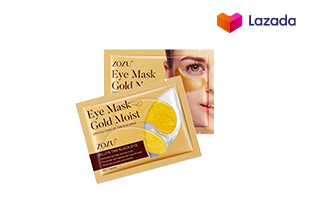 มาร์คตาแผ่นทองคำ Eye Mask Gold Moist สูตรคอลลาเจนทองคำ ลดริ้วรอย รอยตีนกา ลดถุงใต้ตา