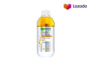 การ์นิเย่ ไมเซล่า ออยล์-อินฟิวส์ คลีนซิ่ง วอเตอร์ 400 มล. Garnier Skin Naturals Micellar Oil-Infused Cleansing water 400 ml