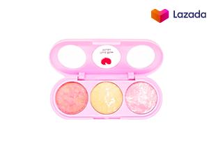 Sivanna Colors บลัชออนคุกกี้ 3 สี พร้อมกระจก+แปรง Peach Beam Blusher (#No.3)