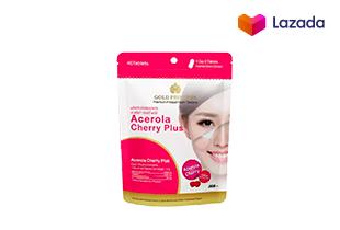 Acerola Cherry Plus (อะเซโรล่า เชอร์รี่ พลัส บรรจุ 40 เม็ด)**วิตามินซีสูง ต้านอนุมูลอิสระ ลดริ้วรอยผิวกระจ่างใส