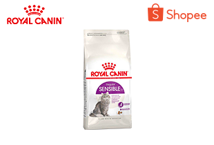 Royal Canin Sensible อาหารสำหรับแมวโต มีปัญหาเรื่องการย่อยอาหาร 400 กรัม