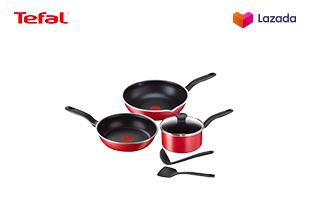 Tefal เซ็ตอุปกรณ์ทำอาหาร ก้นอินดักชั่นPure Chef 6 ชิ้น (Pure Chef Suprise Set 6 pieces) C617S614