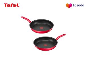 [ซื้อ 1 แถม 1] Tefal กระทะก้นแบน ก้นอินดักชั่น รุ่น Pure Chef Plus ขนาด 28 ซม.