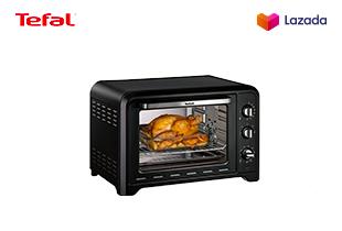 [ฟรี! กล่องถนอมอาหาร] Tefal Oven Optimo เตาอบ กำลังไฟ 2000 วัตต์ ขนาดความจุ 39 ลิตร รุ่น OF4848-Black แถมฟรี!!! Tefal กล่องถนอมอาหาร MasterSeal GLASS ความจุ 0.2 ลิตร มูลค่า 220 บาท