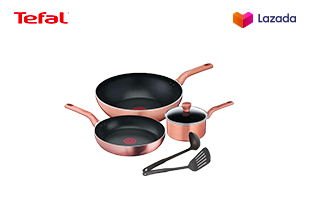 Tefal เซ็ตเครื่องครัว COOK & SHINE 6 ชิ้น รุ่น G803S695 -Rose Gold
