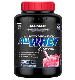 โค้ดส่วนลด สำหรับ ALLMAX Nutrition, AllWhey Classic, เวย์โปรตีน 100% รสสตรอเบอร์รี่ ที่ iherb นำมาแจกลดราคถึง 38%