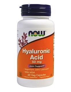 Now Foods, กรดไฮยาลูโรนิก, 50 mg, 60 Veg capsules ลดราคาเหลือ 214 บาท