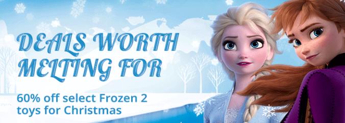 ของเล่นเด็กจากเรื่อง frozen 2 มีโค้ด Aliexpress ลดราคาสูงสุด 60%