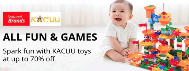 ของเล่นจาก KACUU ลดสูงสุด 70%