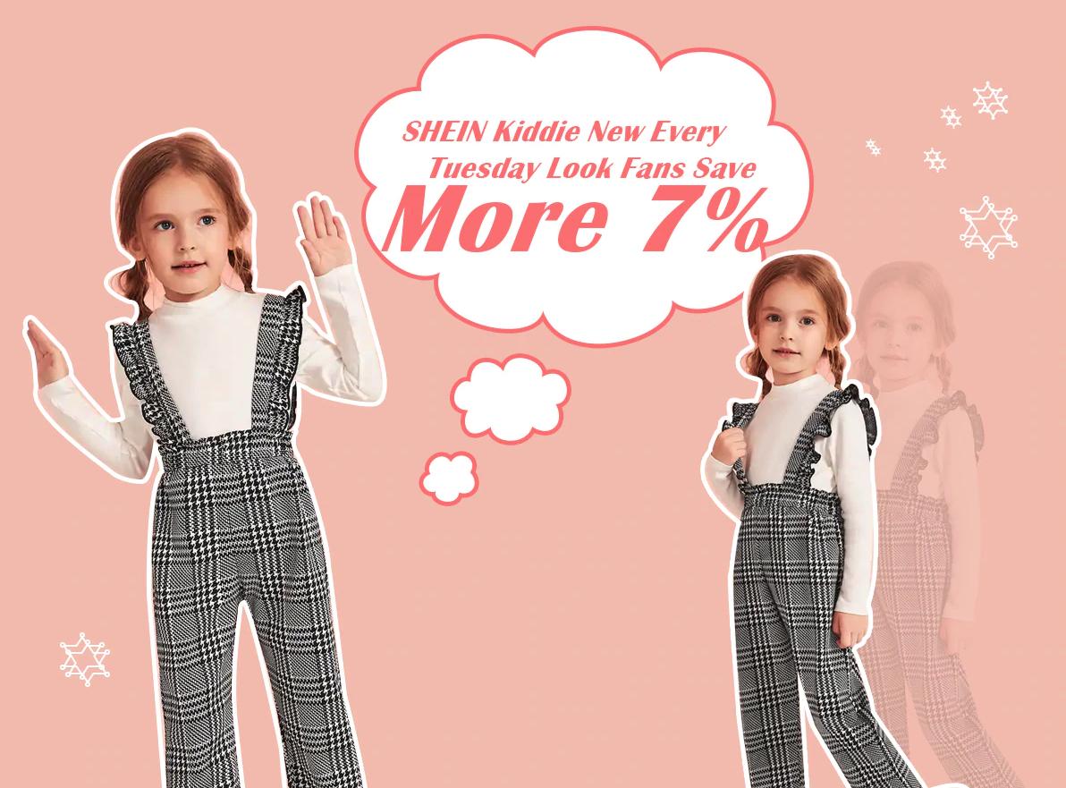 สินค้า SHEIN ใน aliexpress เขานำส่วนลดเสื้อผ้าเด็กที่ลดเพิ่มอีก 7% เมื่อช้อปในวันอังคารเท่านั้น
