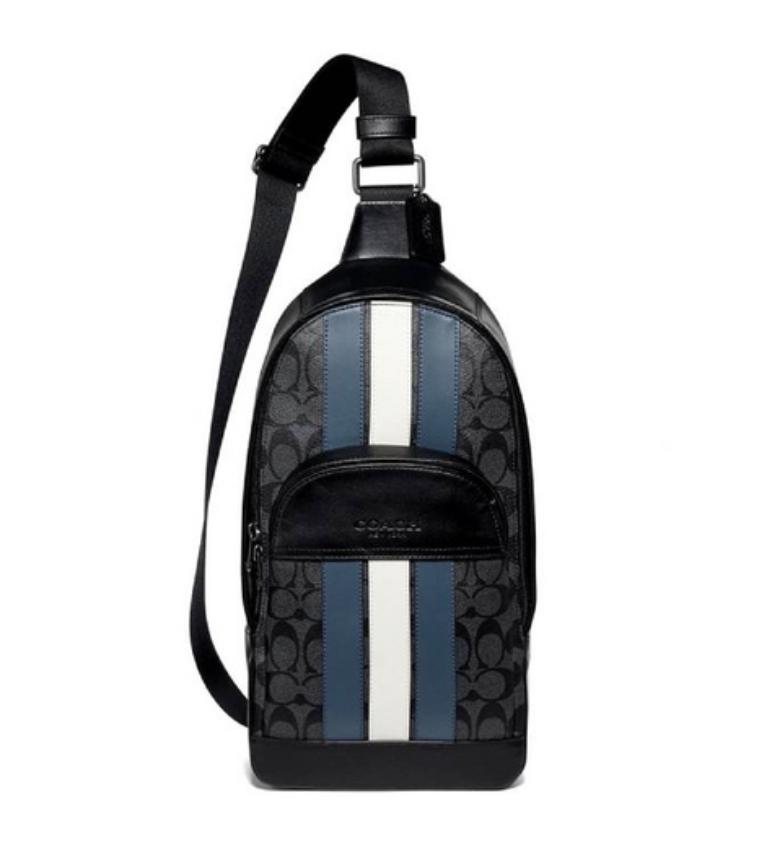 กระเป๋าสะพาย COACH HOUSTON PACK IN SIGNATURE CANVAS WITH VARSITY STRIPE ที่ Shopat24 มีส่วนลด ราคาเหลือ 5,150 บาท