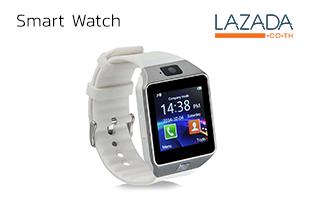 Smart Watch นาฬิกาโทรศัพท์มีกล้อง รุ่น DZ09 (สีขาว)