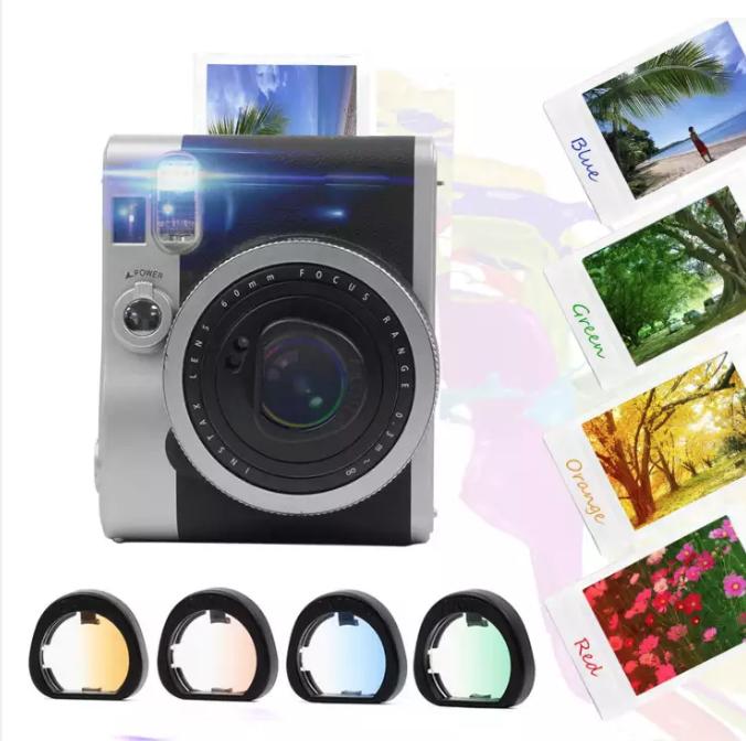 เลนส์ฟิลเตอร์กล้องถ่ายรูป 4 สีสำหรับ Fujifilm Instax Mini 90 ส่วนลด 43% เฉพาะที่ Lazada