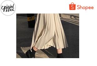 cpjgirlxx | Apricot Seoulo pleated skirt