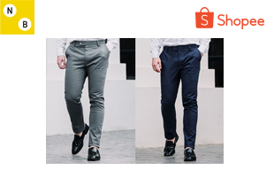 normal.boy | กางเกงขายาวสแลค ผ้ายืด Slim-fit