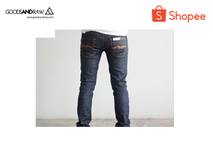 goodsandraw | Thin Finn Dry Twill แบรนด์ Nudie Jeans