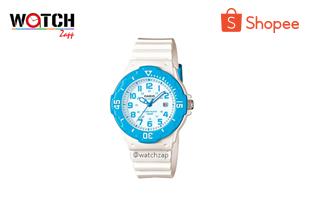 watchzap | Casio Standard นาฬิกาข้อมือผู้หญิง สายเรซิ่น รุ่น LRW-200H