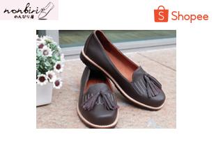 nopawan_jip | รองเท้าหนังแท้ Nonbiri รุ่น Kureyon (สี Double Chocolate)