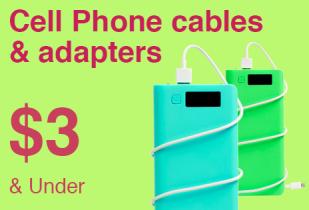 ส่วนลด ebay โปรโมชั่น Cell Phone cables & adapters Under $3 แก็ตเจ็ตมือถือและสายชาร์จ ราคาไม่เกิน 200 บาท