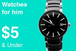 ส่วนลด ebay โปรโมชั่น Watches for him Under $5 นาฬิกาผู้ชาย ราคาไม่เกิน 200 บาท