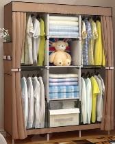 ส่วนลด Shopee 11.11 ตู้เสื้อผ้า 3 บล็อค ขนาดจัมโบ้  แขวนได้สองแถวบนล่าง มีช่องแขวนเสื้อ 4 ช่อง รุ่น GY-09 ลดราคา 21% เหลือเพียง 439 บาท จากปกติ 559 บาท