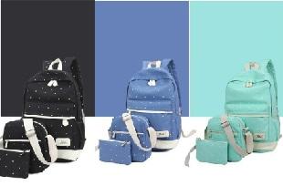 โปรโมชั่น Shopee 11.11  กระเป๋าเป้ Set3ใบ Polkadot ลด 67% เหลือเพียง 369 บาท จากปกติ 1,150 บาท